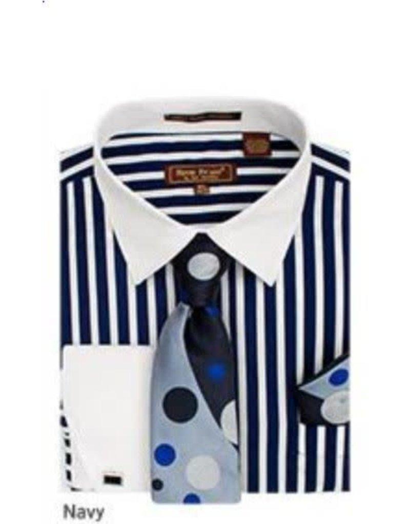 Henri Picard Henri Picard Shirt Set FC168 Navy Blue