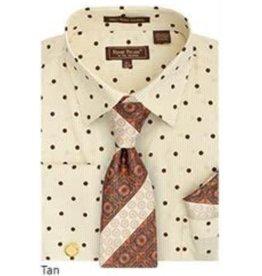 Henri Picard Henri Picard Shirt Set FC169 Tan/Brown