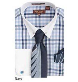 Henri Picard Henri Picard Shirt Set FC172 Navy Blue