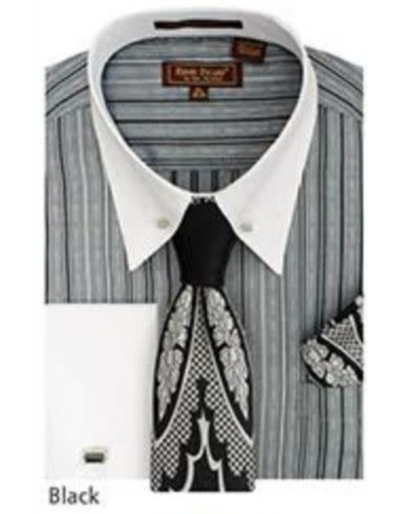 Henri Picard Henri Picard Shirt Set FC171 Black