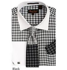 Bruno Conte Bruno Conte Shirt Set CS065 Black