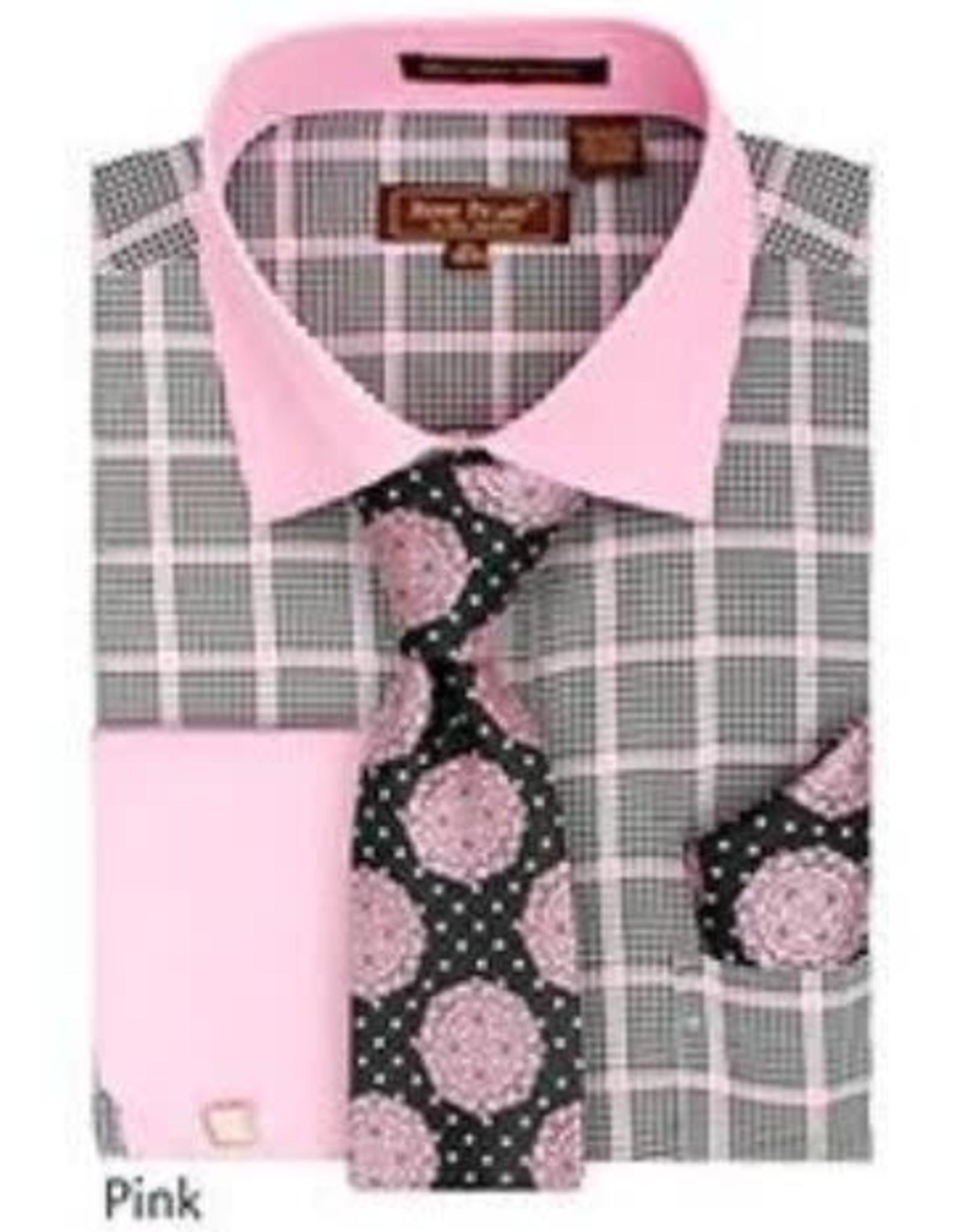 Henri Picard Henri Picard Shirt Set FC170 Gray/Pink