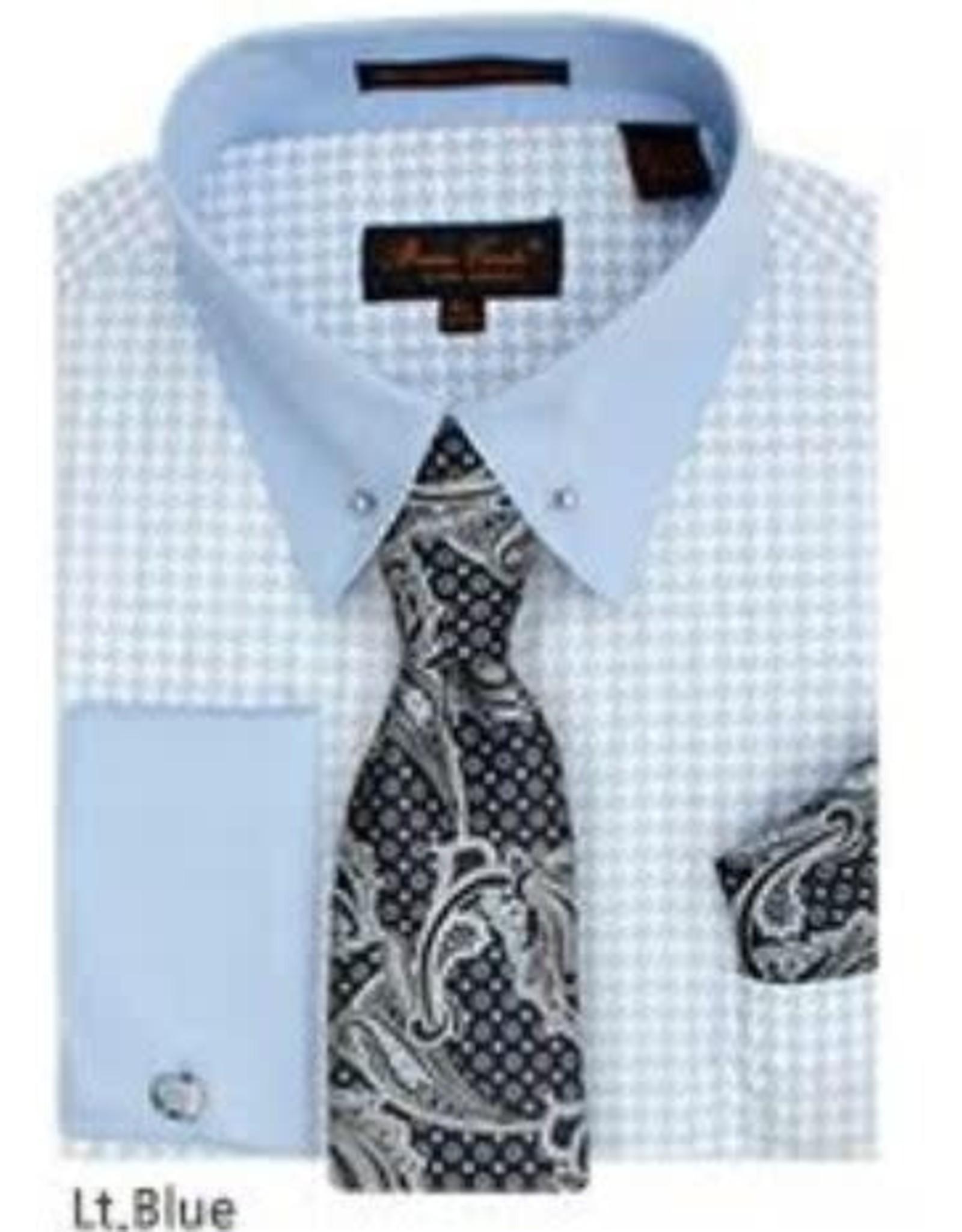 Bruno Conte Bruno Conte Shirt Set CS067 Blue