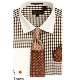 Bruno Conte Bruno Conte Shirt Set CS065 Brown