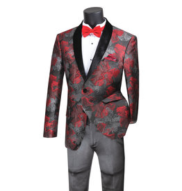 Vinci Vinci Slim Fit Blazer - BSF11 Red