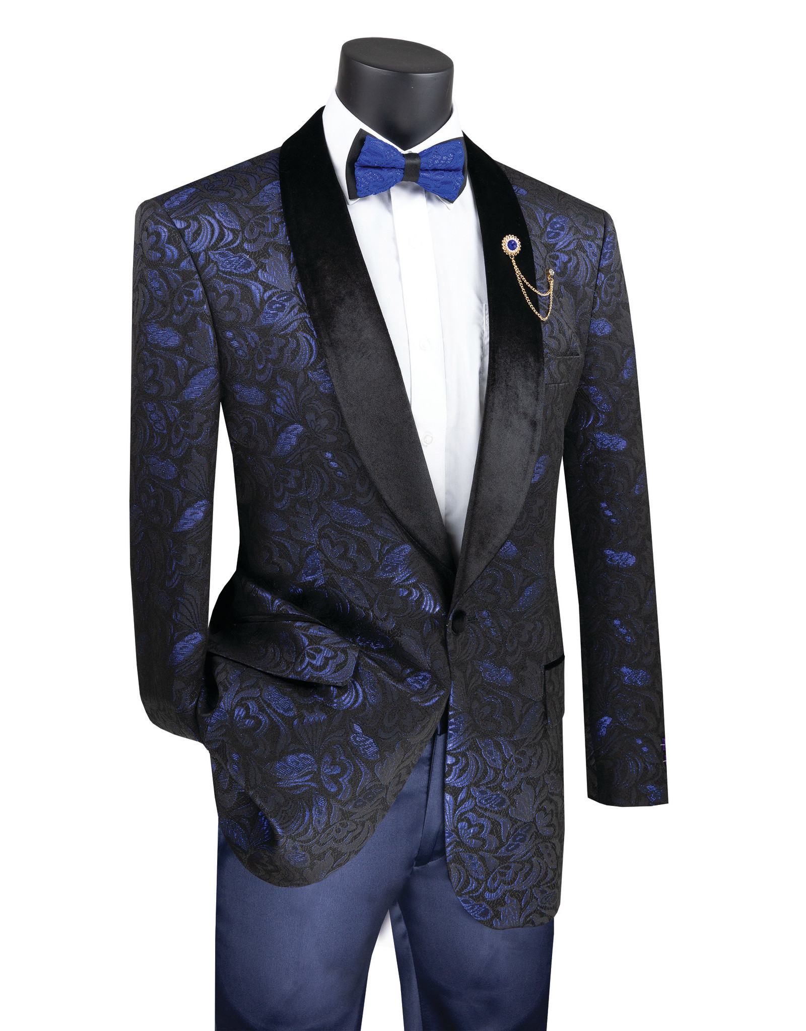 Vinci Vinci Slim Fit Blazer - BF1 Sapphire Blue