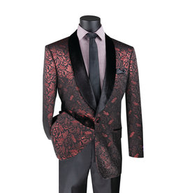 Vinci Vinci Slim Fit Blazer - BF1 Ruby