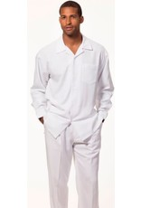 Montique Montique Long Sleeve Pantset - 1641 White