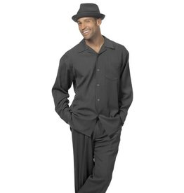 Montique Montique Long Sleeve Pantset - 1641 Black