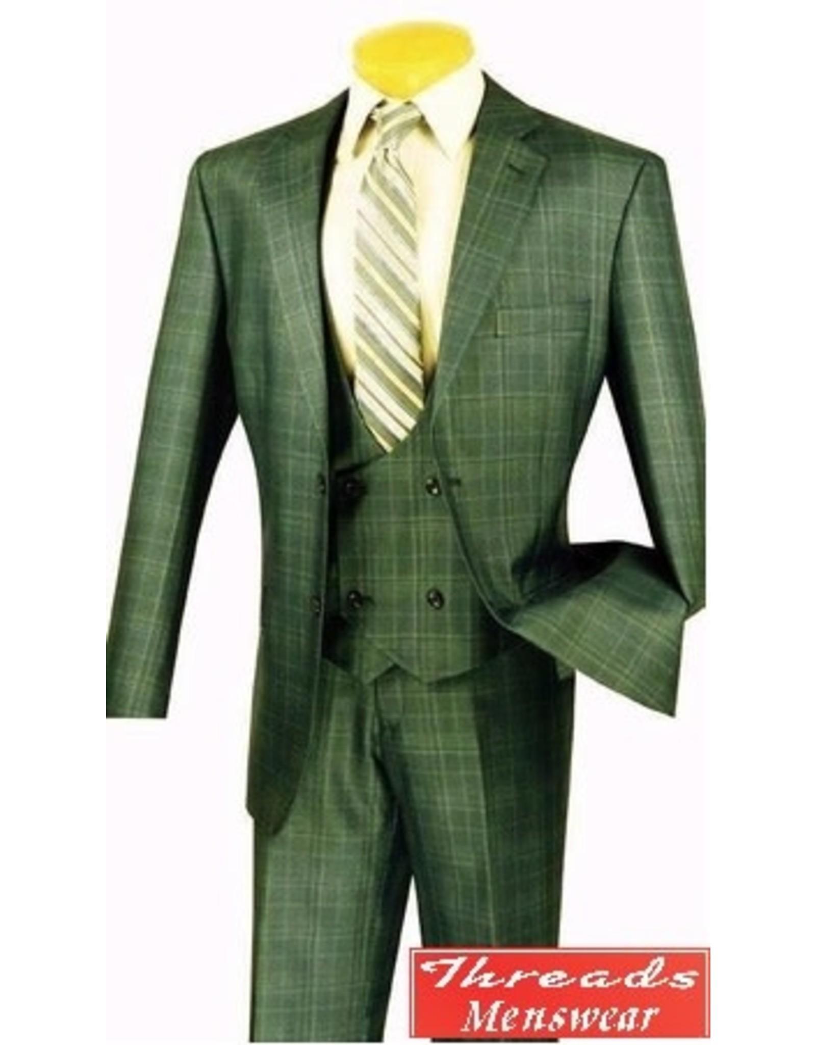 Vinci Vinci Vested Suit - V2RW7 Olive