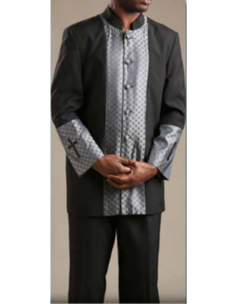Royal Diamond Church Suit - Black