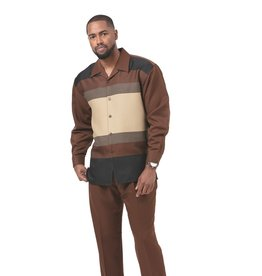 Montique Montique Long Sleeve Pantset - 1930 Brown