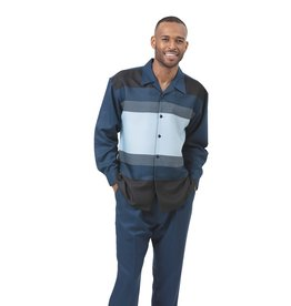 Montique Montique Long Sleeve Pantset - 1930 Navy Blue