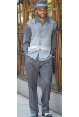 Montique Montique Long Sleeve Pantset - 1963 Gray
