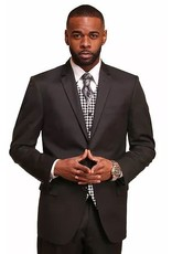 Vitali Vitali Vested Suit - M1802 Black
