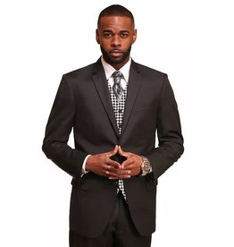 Vitali Vitali Vested Suit - M1802 Black