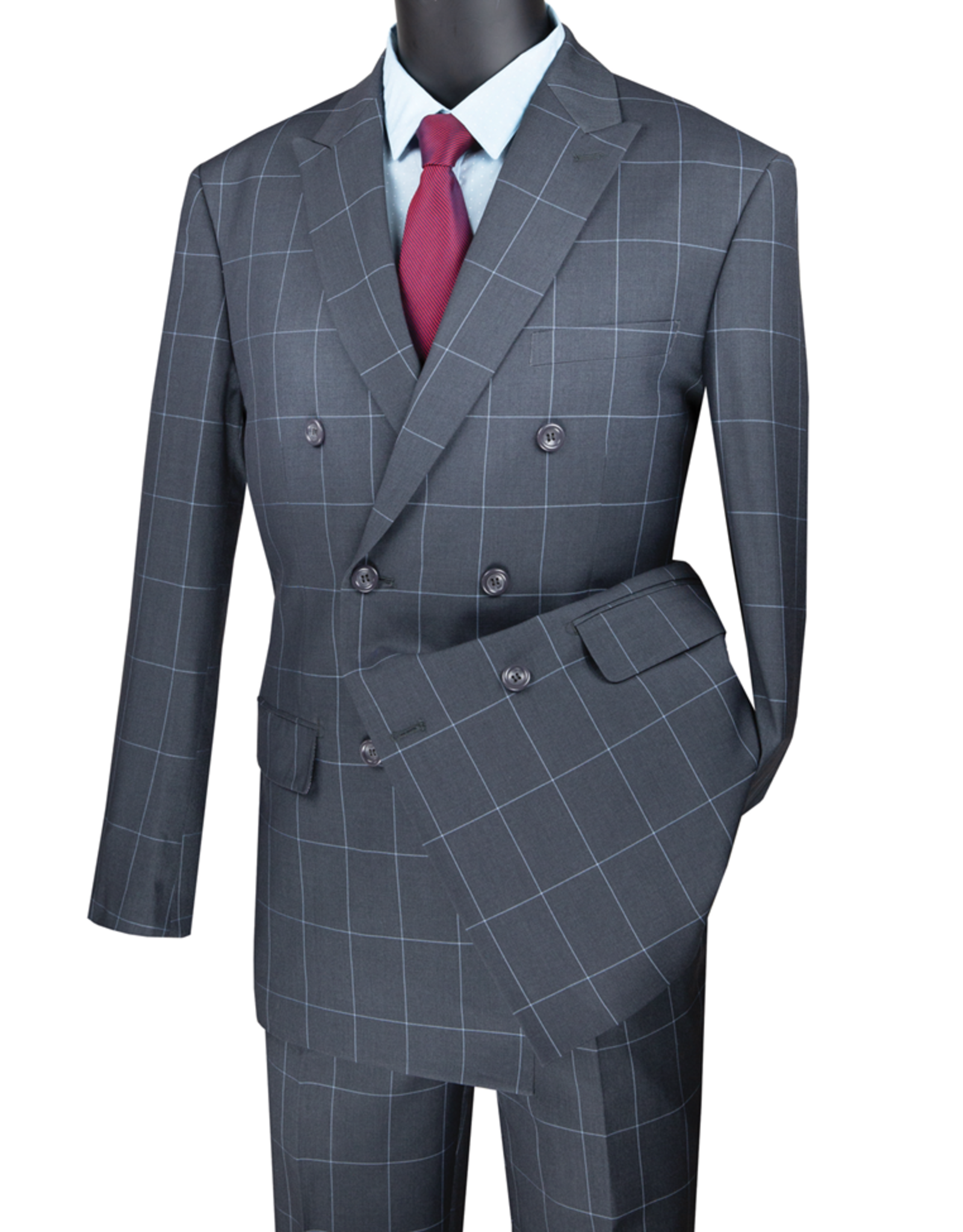 Vinci Vinci Double Breast Suit - MDW1 Gray
