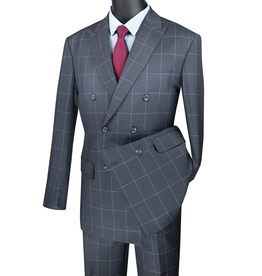 Vinci Vinci Double Breast Suit - MDW1 Gray