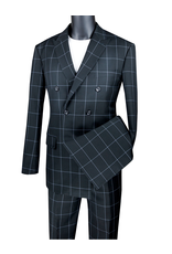 Vinci Vinci Double Breast Suit - MDW1 Black