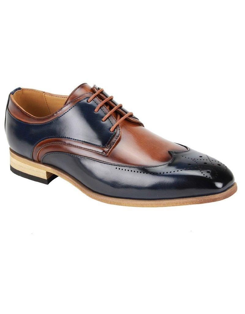 Antonio Cerrelli Antonio Cerrelli 6809 Dress Shoe - Navy/Tan