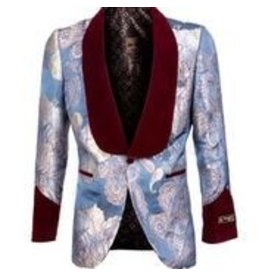 Empire Empire Blazer - ME322H01 Burgundy/Blue
