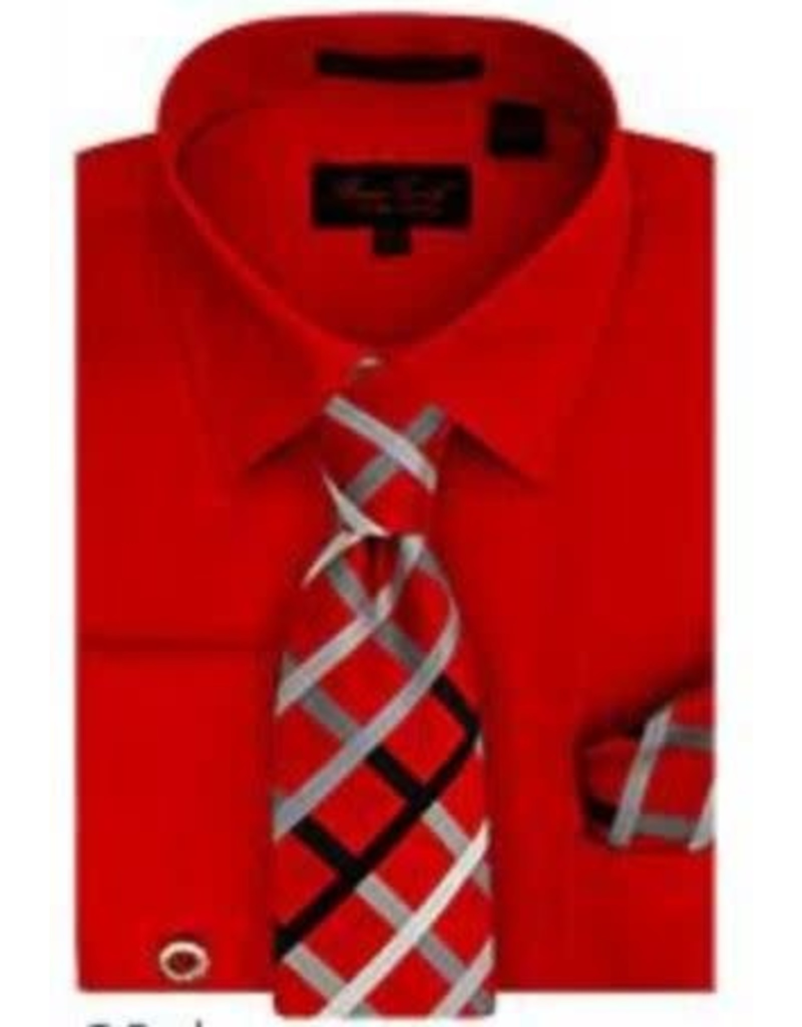 Bruno Conte Bruno Conte Shirt Set BC1097 Red