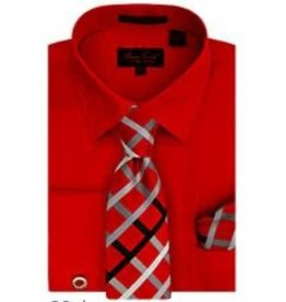 Bruno Conte Bruno Conte Shirt Set BC1097 Red