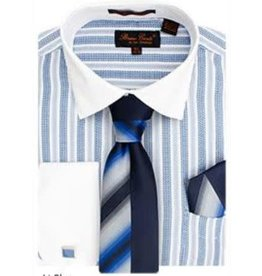 Bruno Conte Bruno Conte Shirt Set CS073 Blue