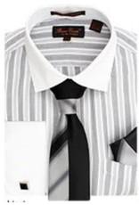 Bruno Conte Bruno Conte Shirt Set CS073 Black