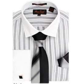 Bruno Conte Bruno Conte Shirt Set CS073 Black