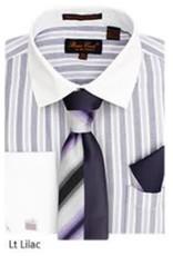 Bruno Conte Bruno Conte Shirt Set CS073 Lilac