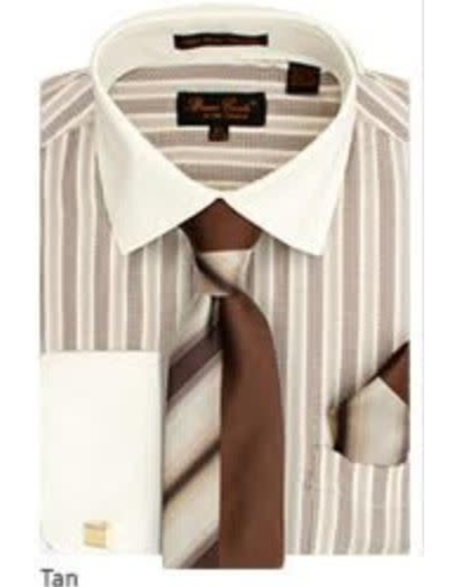 Bruno Conte Bruno Conte Shirt Set CS073 Tan