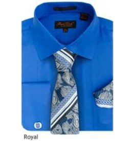 Bruno Conte Bruno Conte Shirt Set CS074 Royal