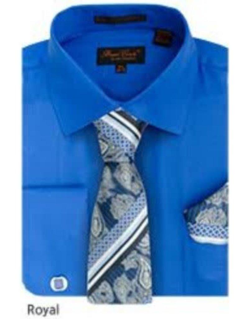 Bruno Conte Bruno Conte Shirt Set CS074 Royal