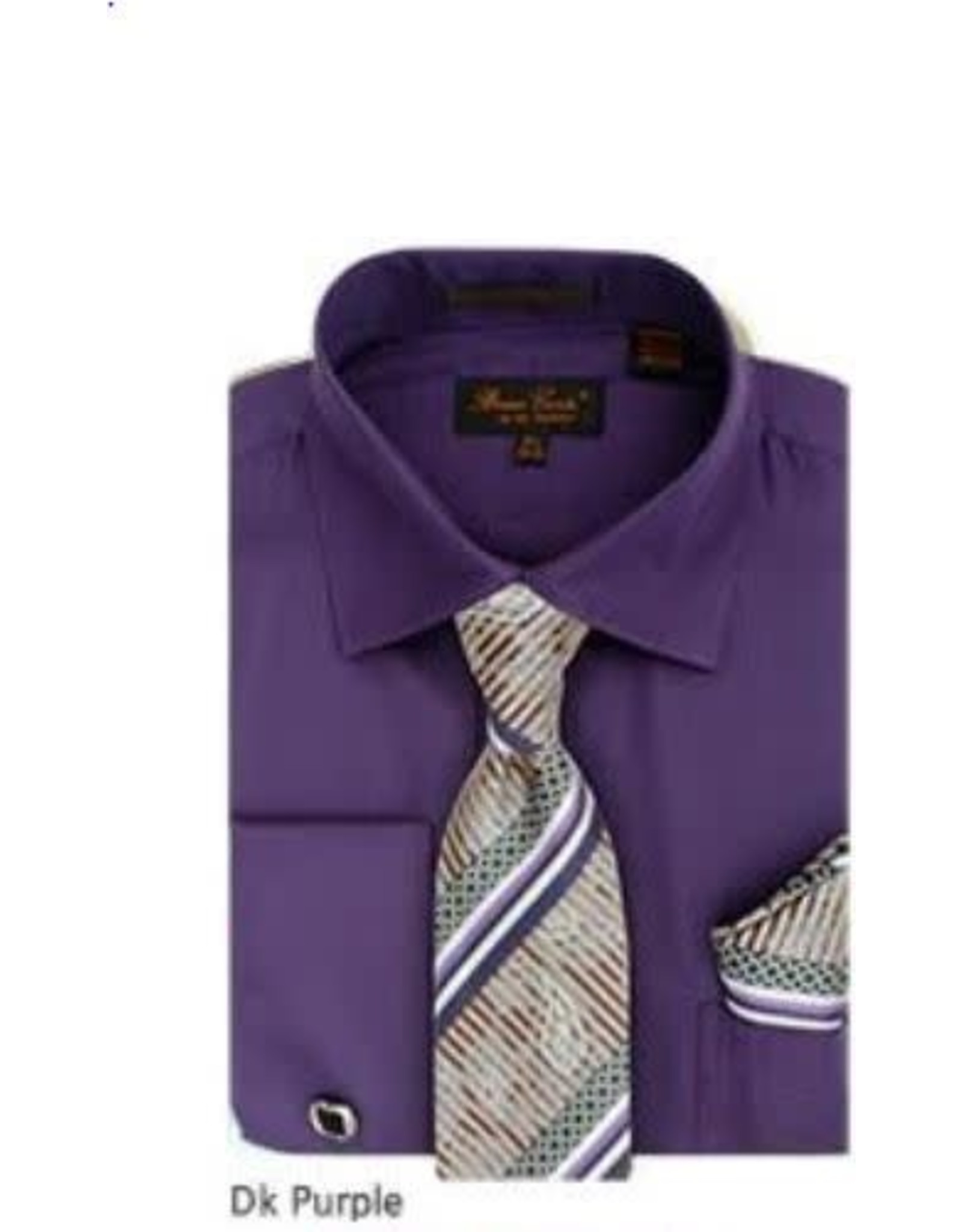Bruno Conte Bruno Conte Shirt Set CS074 Purple