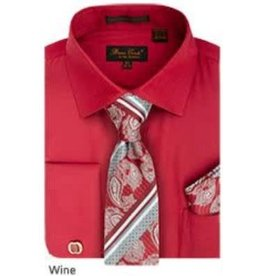 Bruno Conte Bruno Conte Shirt Set CS074 Wine