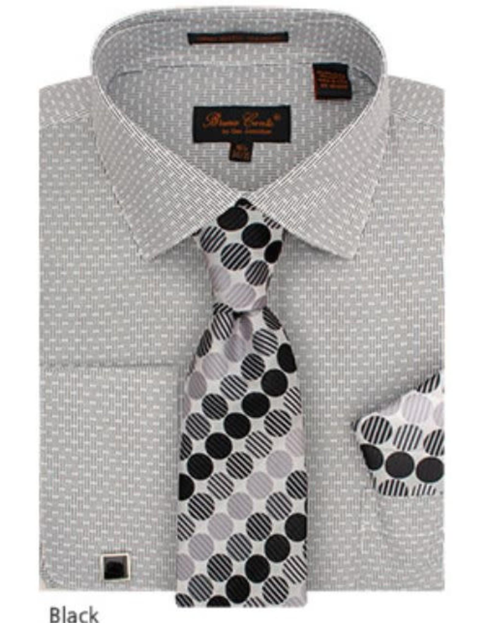 Bruno Conte Bruno Conte Shirt Set CS076 Black