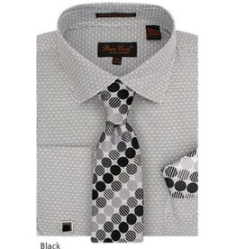 Bruno Conte Bruno Conte Shirt Set CS076 Black