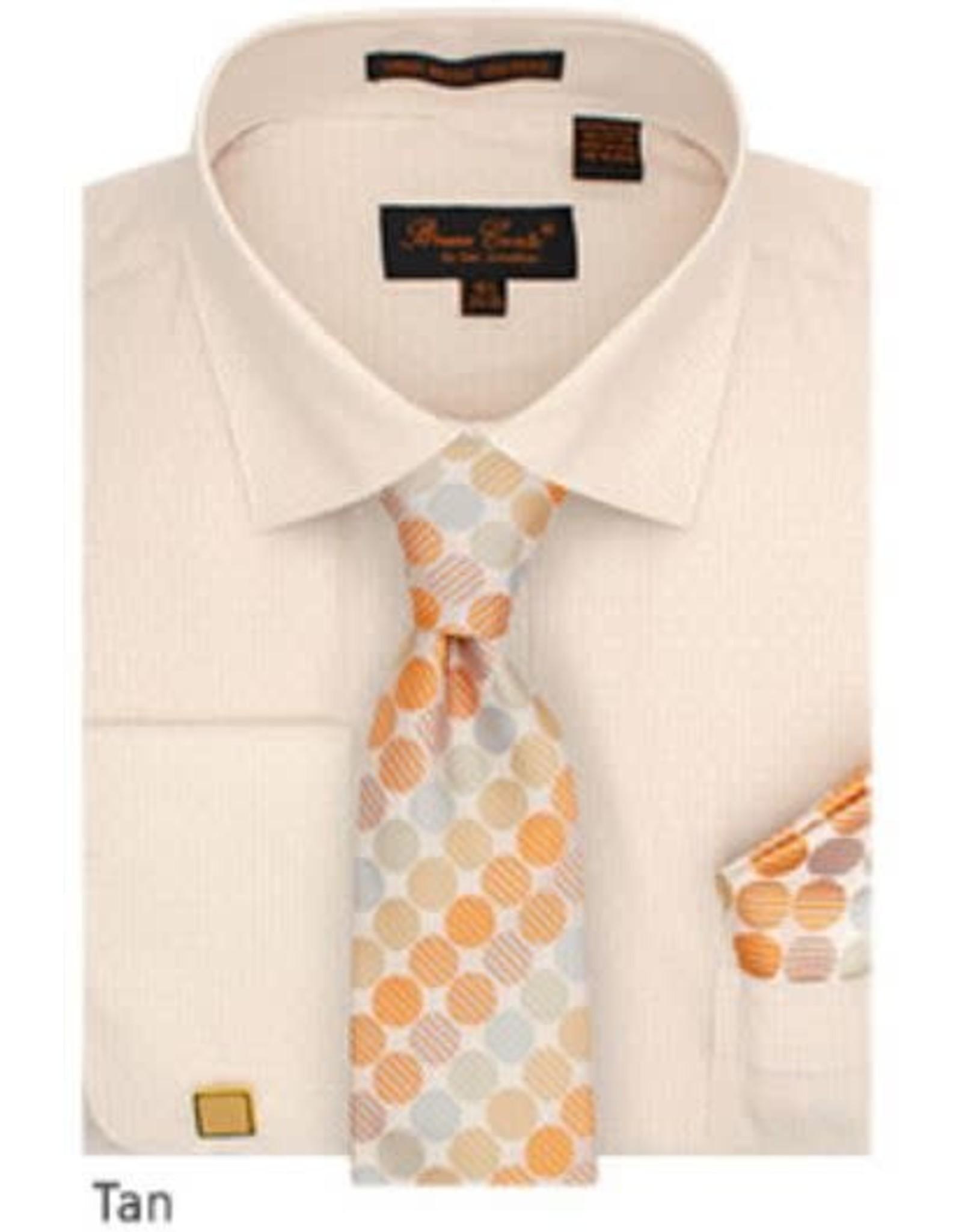 Bruno Conte Bruno Conte Shirt Set CS076 Tan