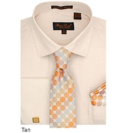 Bruno Conte Bruno Conte Shirt Set CS076 Tan