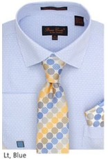 Bruno Conte Bruno Conte Shirt Set CS076 Blue