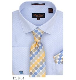 Bruno Conte Bruno Conte Shirt Set CS076 Blue