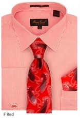 Bruno Conte Bruno Conte Shirt Set CS077 Red