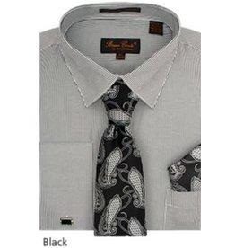 Bruno Conte Bruno Conte Shirt Set CS077 Black