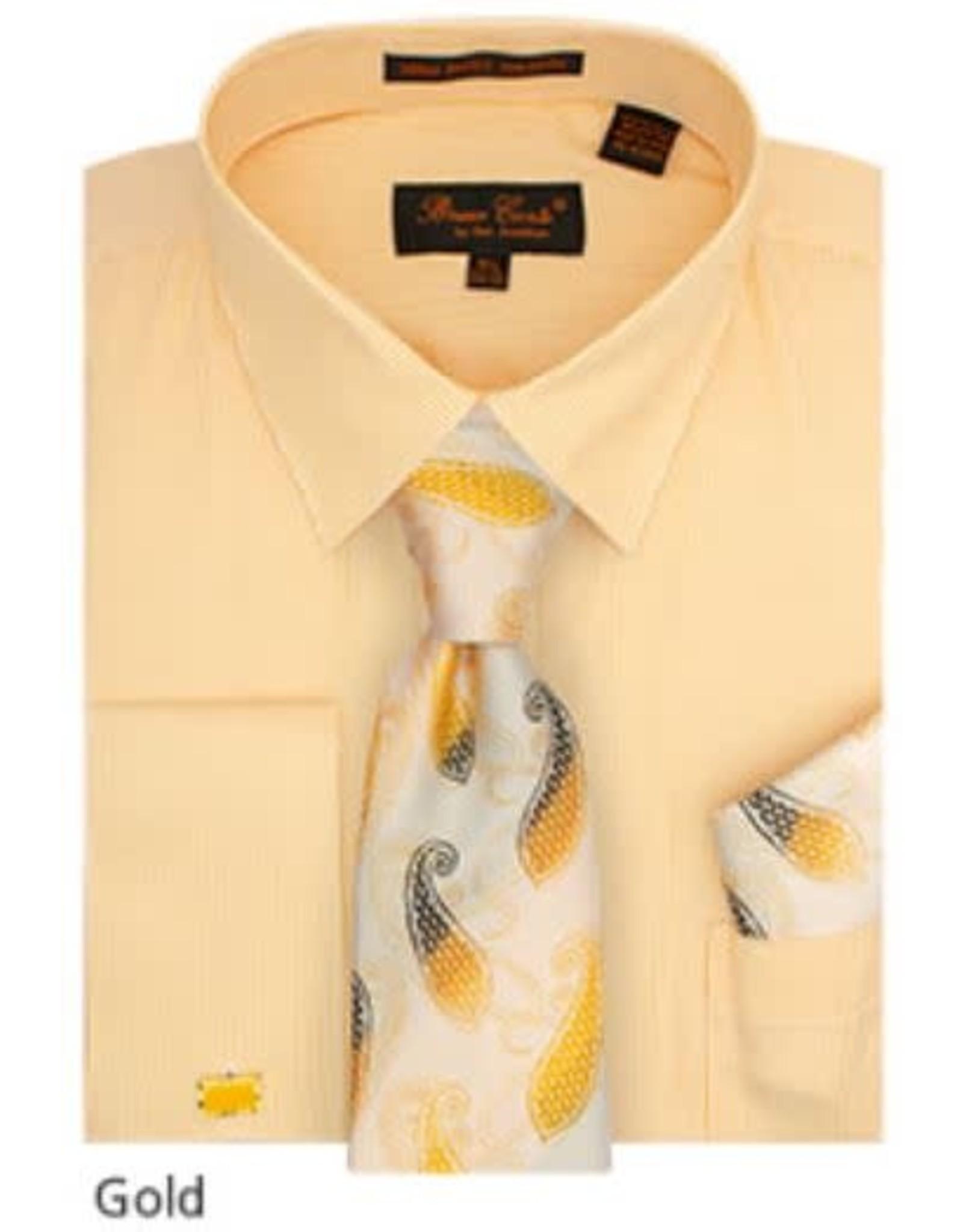 Bruno Conte Bruno Conte Shirt Set CS077 Gold