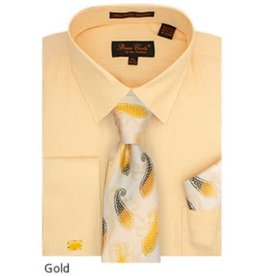 Bruno Conte Bruno Conte Shirt Set CS077 Gold