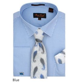 Bruno Conte Bruno Conte Shirt Set CS077 Blue