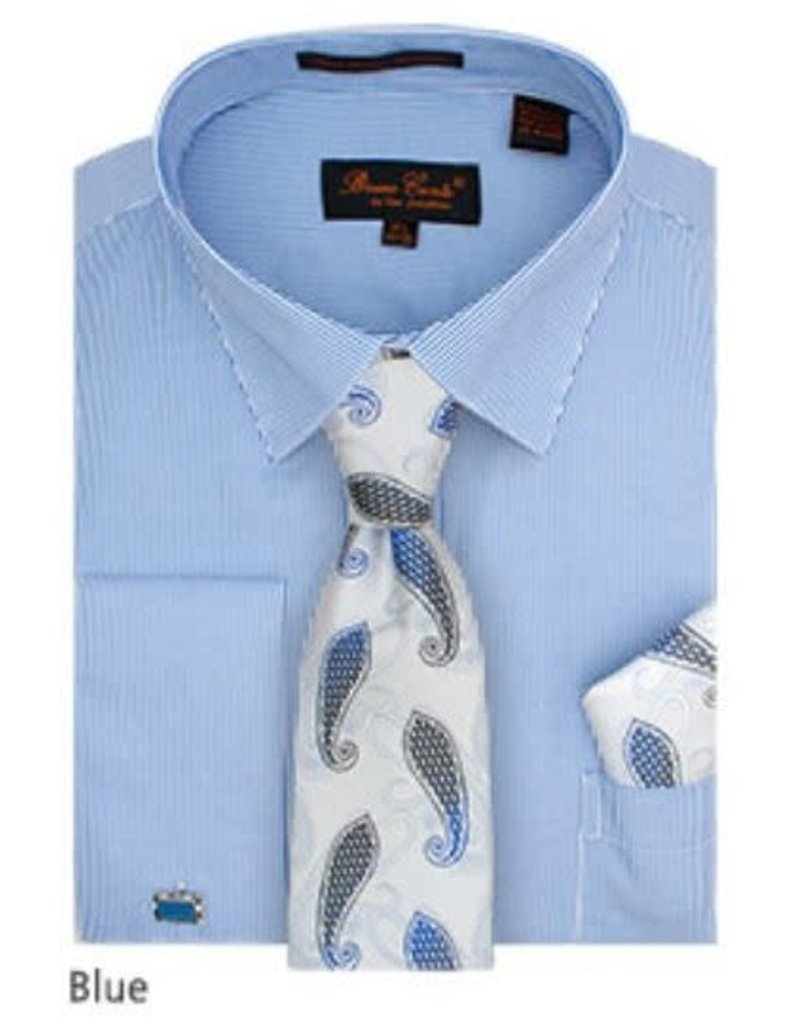 Bruno Conte Bruno Conte Shirt Set CS077 Blue