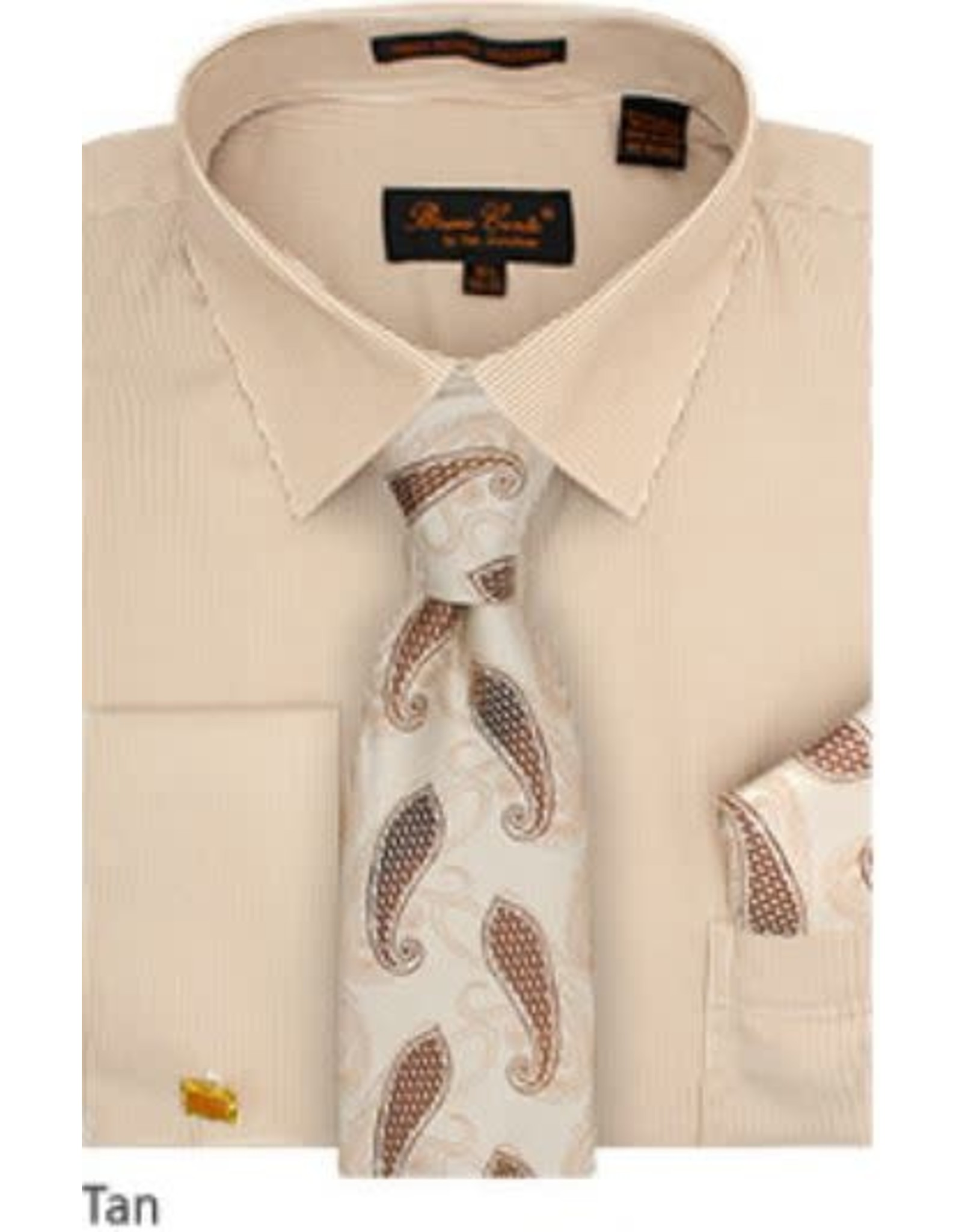 Bruno Conte Bruno Conte Shirt Set CS077 Tan