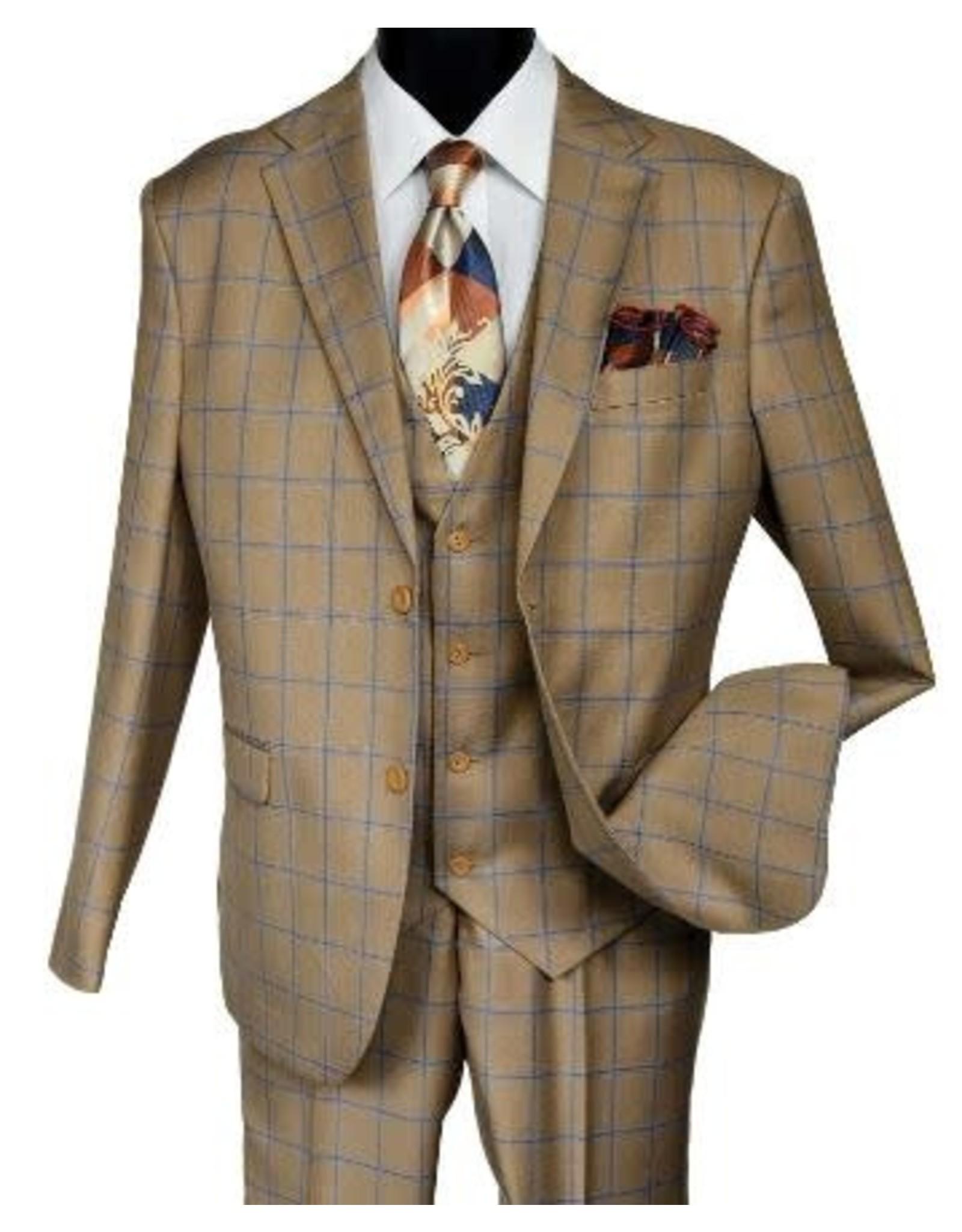 Falcone Falcone Vested Suit - 9228/728 Toast